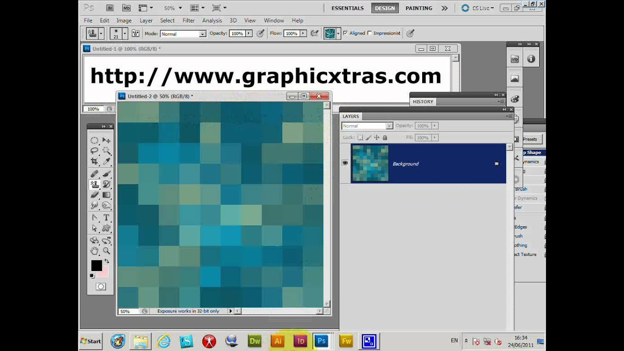 how to make a repeat pattern in photoshop cs5