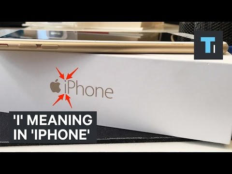 I' Meaning In 'iPhone'