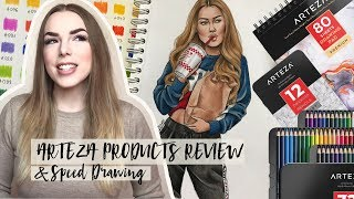ARTEZA PRODUCTS REVIEW & Speed Drawing