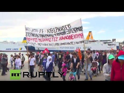 LIVE: Anti-NATO and Frontex protesters to march in Piraeus