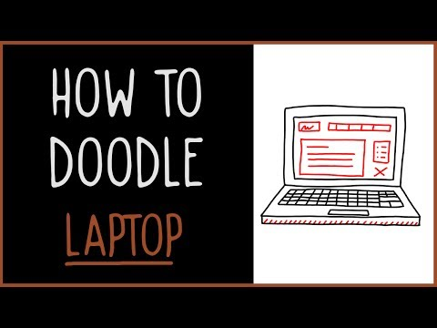 Learn How to Doodle a Laptop (drawing tips)