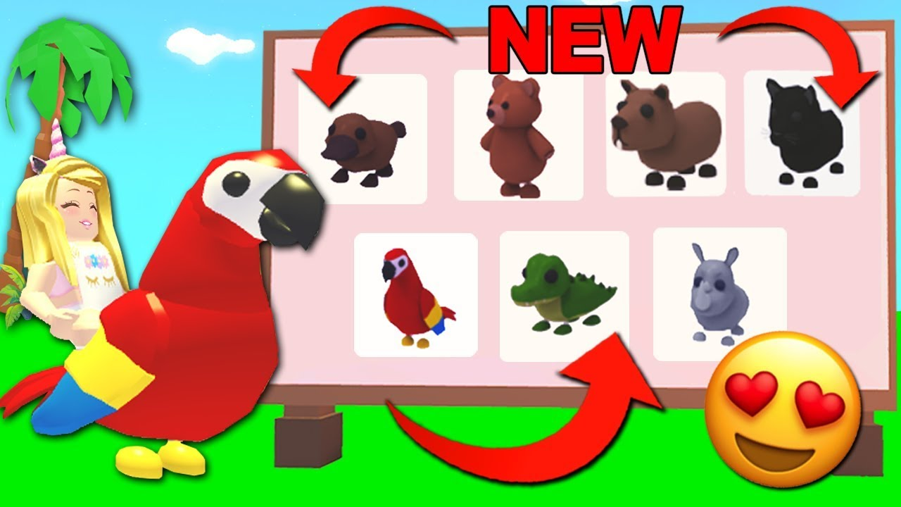 Buying All The New Jungle Pets In Adopt Me Roblox Youtube