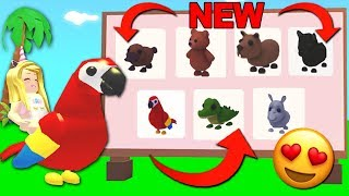 Buying ALL The NEW JUNGLE PETS In Adopt Me! (Roblox)