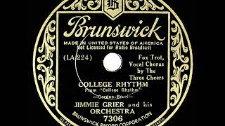 1934 Jimmie Grier - College Rhythm (Three Cheers, vocal)