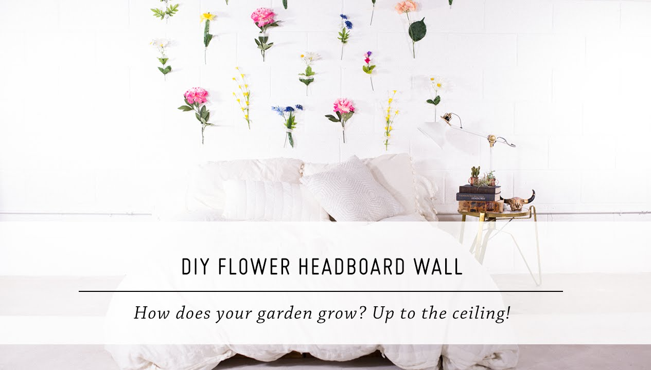 Diy Flower Headboard Wall Bedroom Home Decor Stop Motion Tutorial Mr Kate