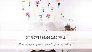 DIY Flower Headboard Wall | Bedroom & Home Decor | Stop Motion Tutorial | Mr Kate