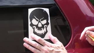 How to install a Vinyl Decal on your car window.