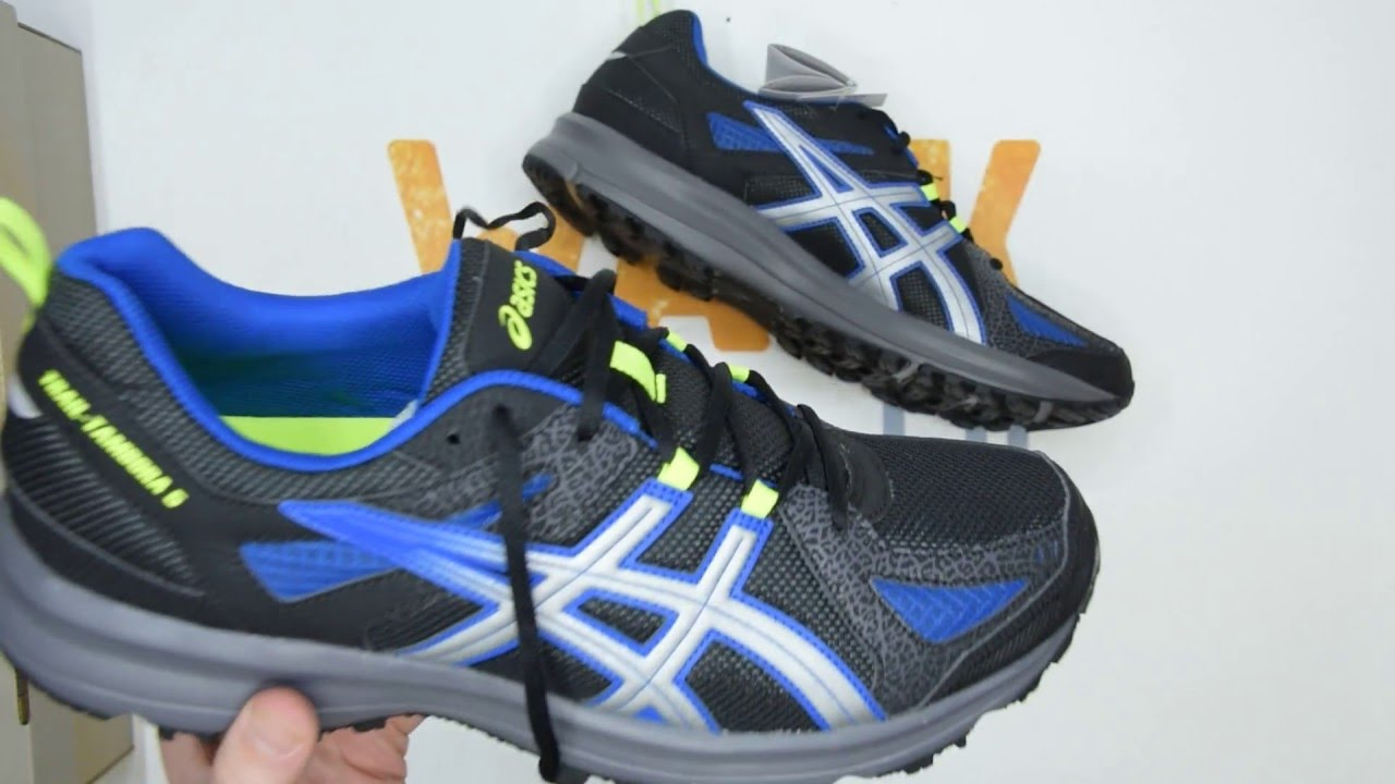 Asics TrailTambora 5  Carbon|SIlver|Blue  Walktall | Unboxing |  Hands on  YouTube