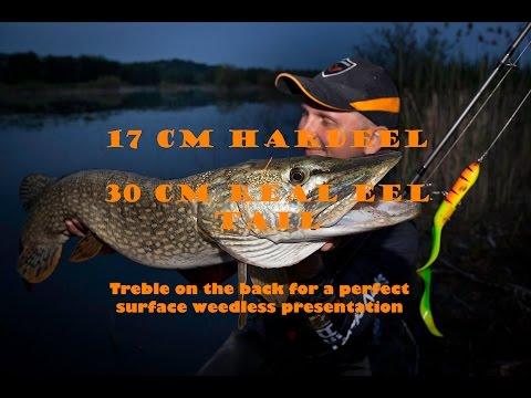 Hard Eel topwater BIG pike  - lake Orešje