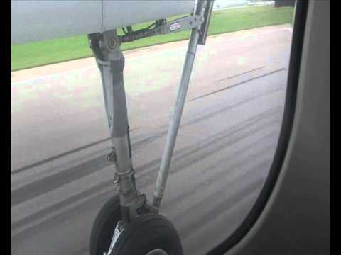 Take-off from Riga on 15th September in 2012 - Fokker 50 - Air Baltic