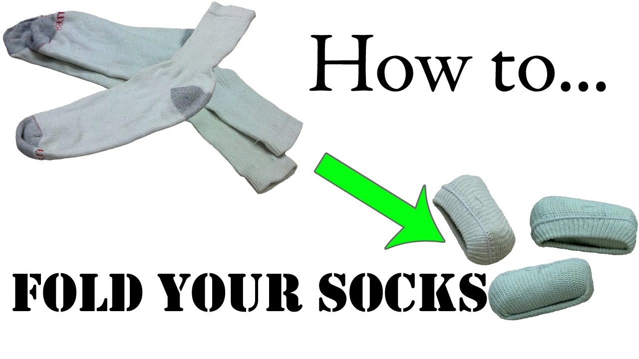 Best way to fold clothes for suitcase - Army Packing Hack How To Fold Your Socks For Travel Single Roll Army Ranger Roll Basic Training