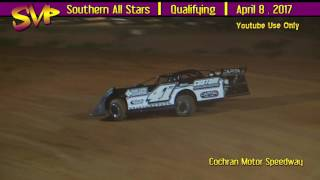 Southern All Stars Super Late Models Qualifying @ Cochran Motor Spe...
