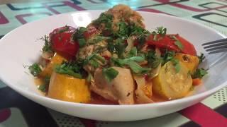 Очень Вкусная Куриная Грудка с Овощами в Мультиварке Рецепт