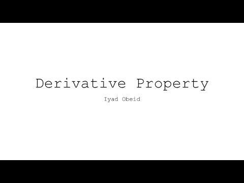 Derivative Property