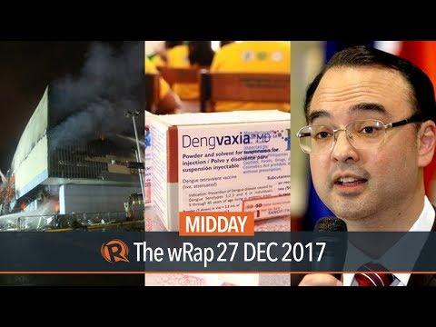Davao fire, Dengvaxia, PH embassy in...
