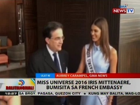 BT: Miss Universe 2016 Iris Mittenaere, bumisita sa French Embassy