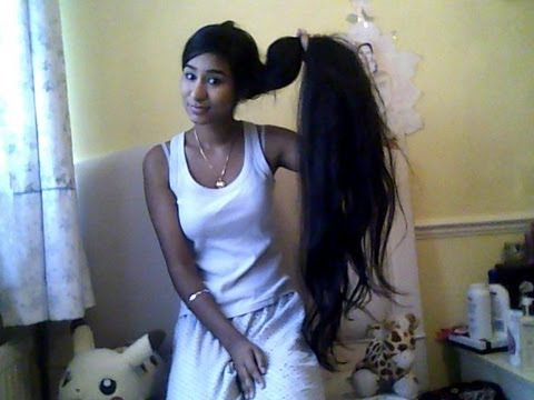 how to straighten very long hair youtube