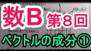 【高校数学】 数B-8 ベクトルの成分① thumbnail