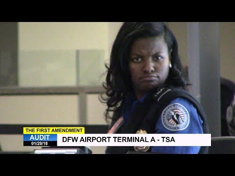 First Amendment Audit - DFW Airport - Terminal A - TSA