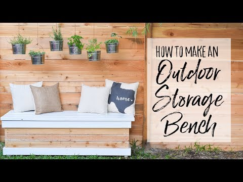 DIY Outdoor Storage Bench - Our Handcrafted Life