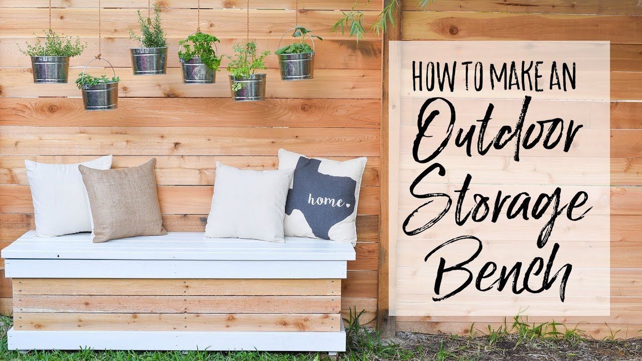 diy outdoor storage bench our handcrafted life