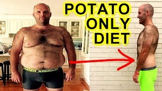 MAN BREAKS POTATO ONLY DIET ON LIVE TV & EPIC WEIGHTLOSS JOURNEY REVEALED