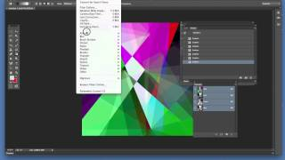 Photoshop gradients : stained glass effect