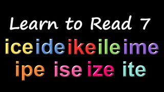 learn to read 7 phonics rhyming the kids picture show fun educational learning video
