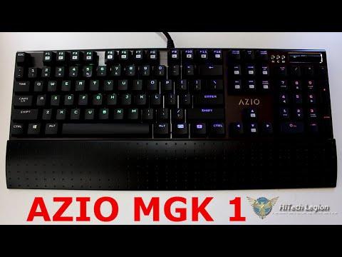 44671f7cdf4 AZIO MGK 1 Full RGB Mechanical Gaming Keyboard Review - YouTube