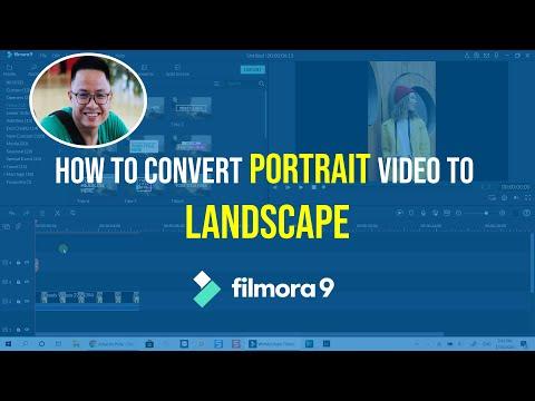 How to Convert PORTRAIT Video to LANDSCAPE