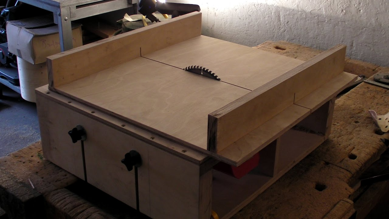 Homemade Table Saw Part 2 Diy Sledge Runners Amp Mitre