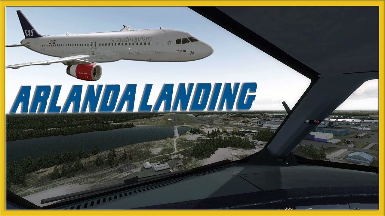FSLabs A320 Windy Landing at ORBX Arlanda - SAS - P3D FSX