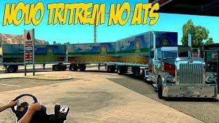 TRI-TREM NO AMERICAN TRUCK SIMULATOR ? - ATUALIZAÇÃO - VOLANTE G27