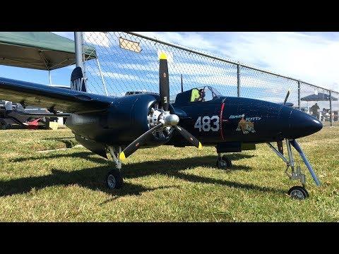 Robert's 1700mm FMS F7F Tigercat Bad Kitty Flight At Warbirds Over Whatcom