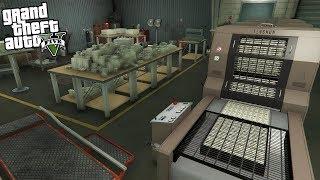 MAKING FAKE MONEY IN GTA 5!!! - COPS CALLED (GTA 5 REAL LIFE PC MOD)