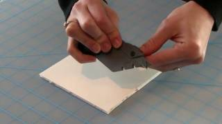 Using The X-acto Foam Board Cutter