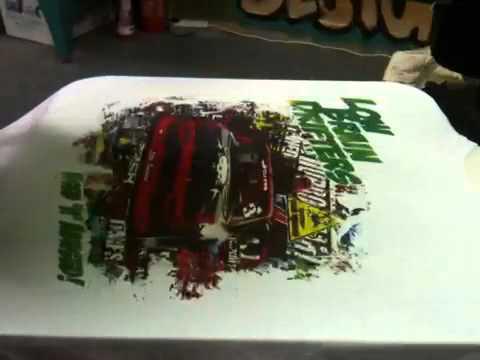 Cmyk t shirt printing