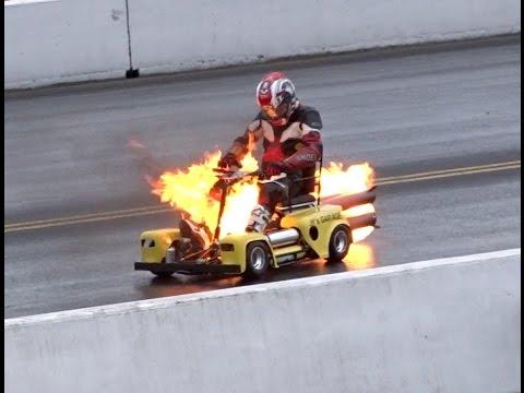 Jet Granny Cars Mobility Scooter having a bit of a backfire at SantaPod