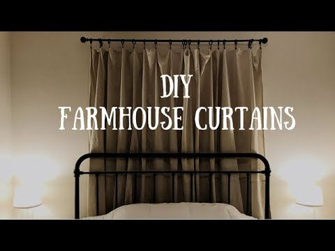 DIY Farmhouse Curtains aka No Sew Drop Cloth Curtains