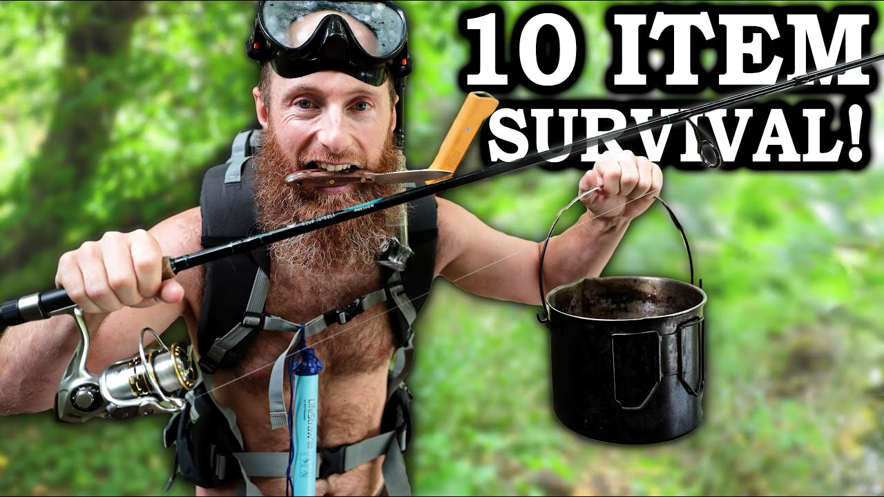 10-Item Survival Challenge (Tough DAY 3) - Eating Whatever We Can Find in the Woods!