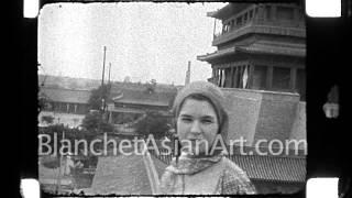 1920's film of China: Beijing street scene near Chongwenmen Gate
