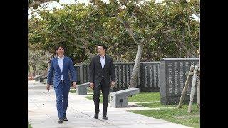 陽岱鋼選手、丸佳浩選手が沖縄の平和祈念公園を訪問