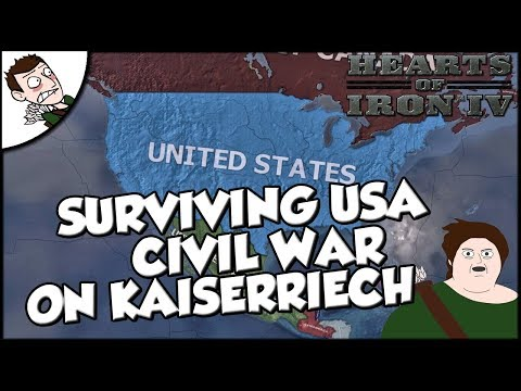 Trying to Survive the Civil War as the USA on Kaiserreich Hearts of Iron 4 hoi4