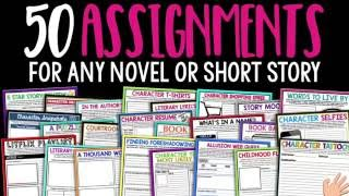 Gambar cover 50 Creative Assignments For Any Novel Or Short Story - Teachers Pay Teachers