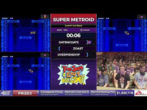Super Metroid by oatsngoats, zoast and Overfiendvip in 52:49 - SGDQ2017 - Part 124