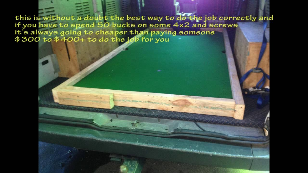 How to move a slate pool table down stairs for 1 piece slate pool table