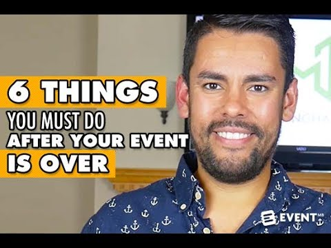 6 Things You Must Do After Your Event is Over