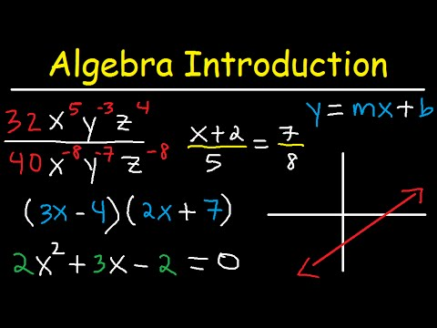 Algebra Introduction - Basic Overview - Online Crash Course