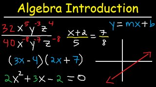 Algebra Introduction - Basic Overview - Online Crash Course Review Video Tutorial Lessons