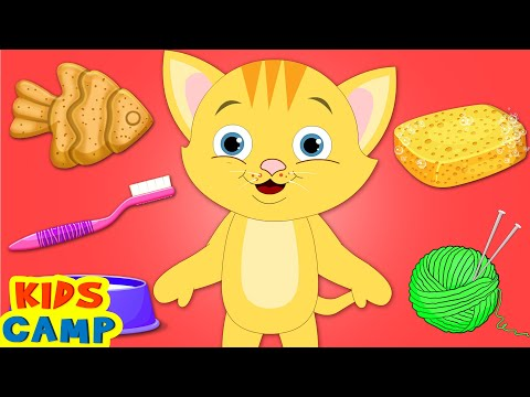 Kitten Morning Routine | Learning Video | Educational For Kids By Kidscamp